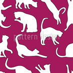 My Favourite Animal The Cat Seamless Vector Pattern Design