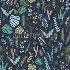 Nächtlicher Wald Nahtloses Muster
