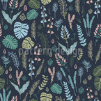 Night Forest Seamless Vector Pattern Design