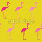 Bonito Flamingo Estampado Vectorial Sin Costura