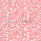 Berry Twigs Seamless Vector Pattern Design