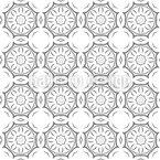 Verbundene Kreise Nahtloses Vektor Muster
