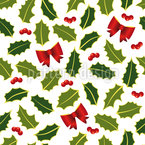 Holly Christmas Repeat Pattern