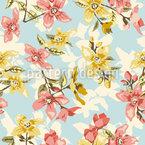 Vintage Blüte Nahtloses Vektormuster