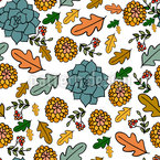 Natural Autumn Beauties Seamless Vector Pattern Design