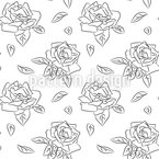Blühende Rosen Nahtloses Vektormuster