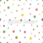 Painted Polka Dot Seamless Vector Pattern Design