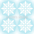 Ice Crystal Geometry Seamless Vector Pattern Design