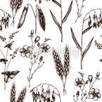 Öko Pflanzen Musterdesign