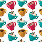 Cup Of Coffee Seamless Vector Pattern Design