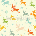 Running Deer Seamless Vector Pattern Design
