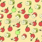 Wähle Einen Apfel Nahtloses Vektormuster