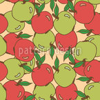 Mixed Apples Seamless Vector Pattern Design