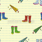 Raining Shoes Seamless Vector Pattern Design