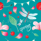 Frühlingsfest Nahtloses Vektormuster