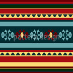 Persian Kilim Seamless Vector Pattern Design
