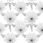 Art Deco Flower Seamless Vector Pattern