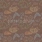 Dino Friends Seamless Vector Pattern Design