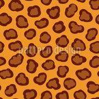 Leopard Spots Seamless Vector Pattern Design