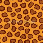 Leoparden Flecken Nahtloses Vektormuster