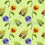 Stiefmütterchen Im Frühling Muster Design