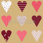 Valentins Herzen Nahtloses Vektormuster