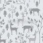 Deer in Winter Forest Vector Ornament