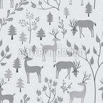 Rehe im Winterwald Vektor Ornament
