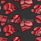 Doodle Hearts Seamless Vector Pattern Design
