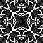 Silhouettenhafte Nostalgie Muster Design