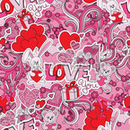 Give Love Seamless Vector Pattern Design