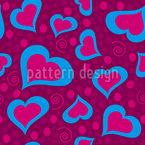 Verrückte Herzen Nahtloses Vektormuster