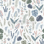 Mystical Forest Seamless Vector Pattern Design