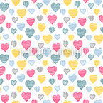 Heart Warming Seamless Vector Pattern Design