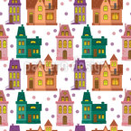 Townhouse Seamless Vector Pattern Design
