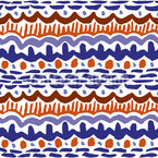 African Inspiration Seamless Vector Pattern Design