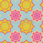Flower Power Connection Seamless Vector Pattern Design