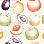 Fresh Fruits Seamless Vector Pattern Design