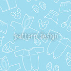 Babies Outfit Blue Seamless Vector Pattern Design