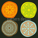 Citrus Seamless Vector Pattern Design