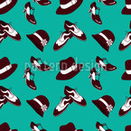 Twenties Zapatos y Sombreros Estampado Vectorial Sin Costura