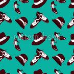 Zwanziger Jahre Schuhe und Hüte Nahtloses Vektormuster
