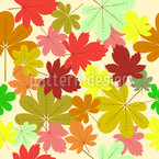 Carpet Of Leaves Seamless Vector Pattern Design