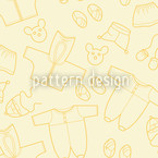 Babies Outfit Yellow Seamless Vector Pattern Design