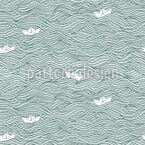 Kleine Papier-Boote Muster Design