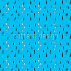 Drizzle Rain Seamless Vector Pattern Design