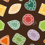 Precious Gems Seamless Vector Pattern Design