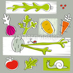 Soup Seamless Vector Pattern Design