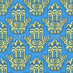 Hamsa Seamless Vector Pattern Design
