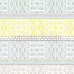 Bohemian Collage Seamless Vector Pattern Design